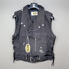 BATES ベイツ デニムベスト BAJ-DV11 ブラック ジャケット XLサイズ