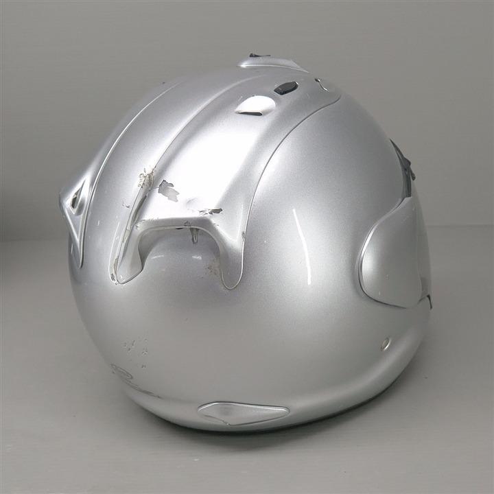 Arai mz ジェットヘルメット 59-60cm Lサイズ シルバー ジャンク 部品取り