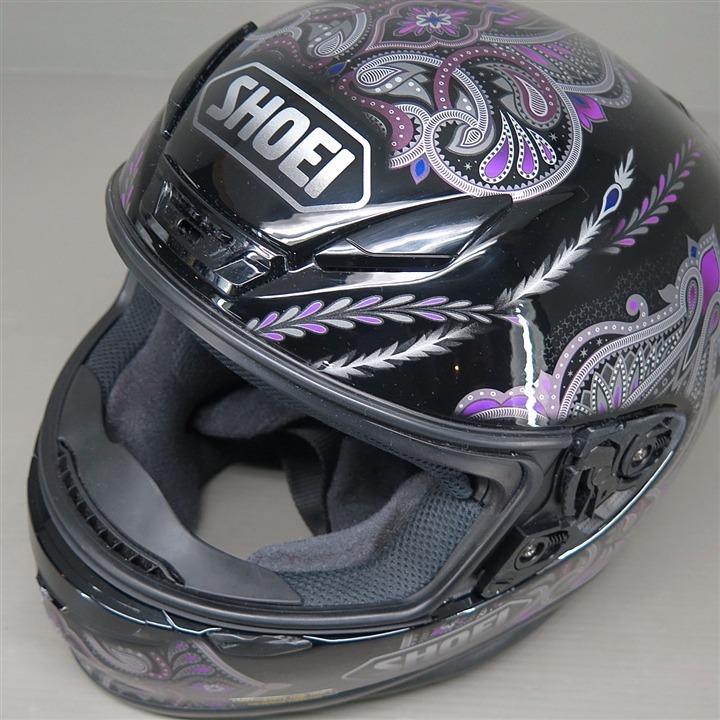 SHOEI Z-7 フルフェイスヘルメット Mサイズ 黒/紫