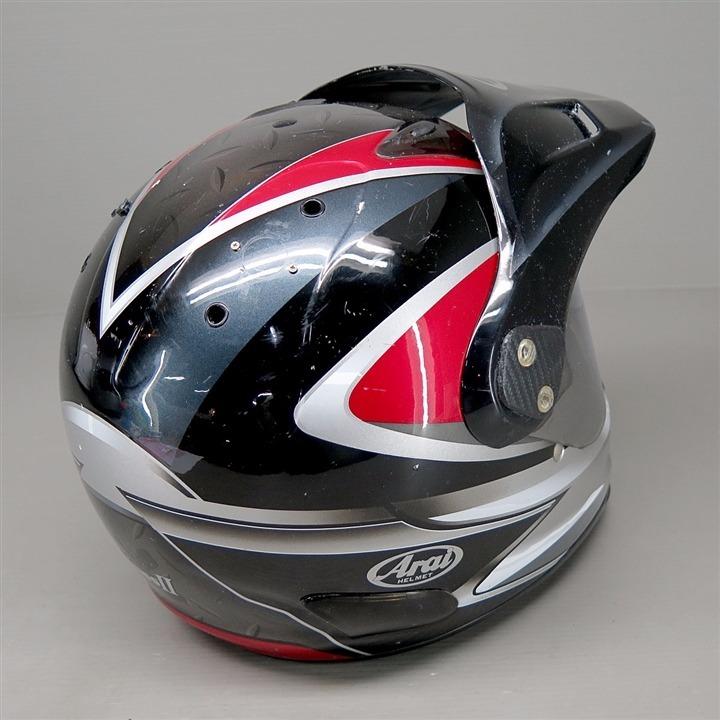 Arai CROSS2 フルフェイスヘルメット 57-58cm Mサイズ 黒/赤 ディフューザー割れ