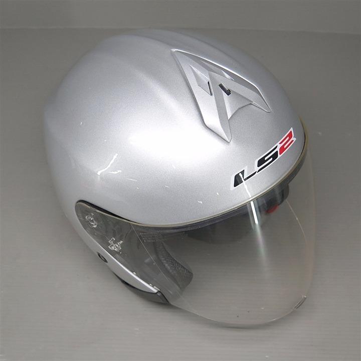 LS2 FREEWAY ジェットヘルメット  XLサイズ シルバー