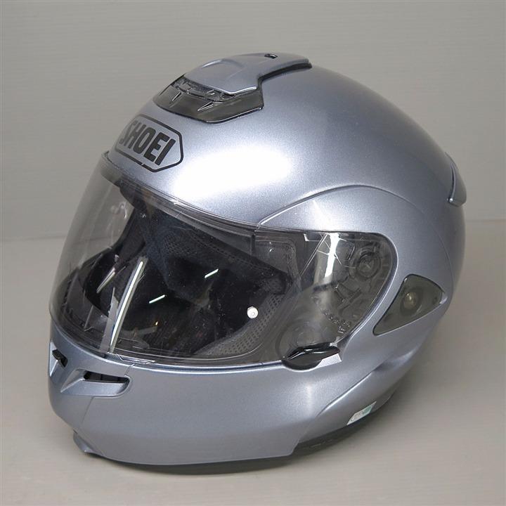 SHOEI MULTITEC フリップアップ フルフェイスヘルメット Lサイズ ガンメタ 内装要交換