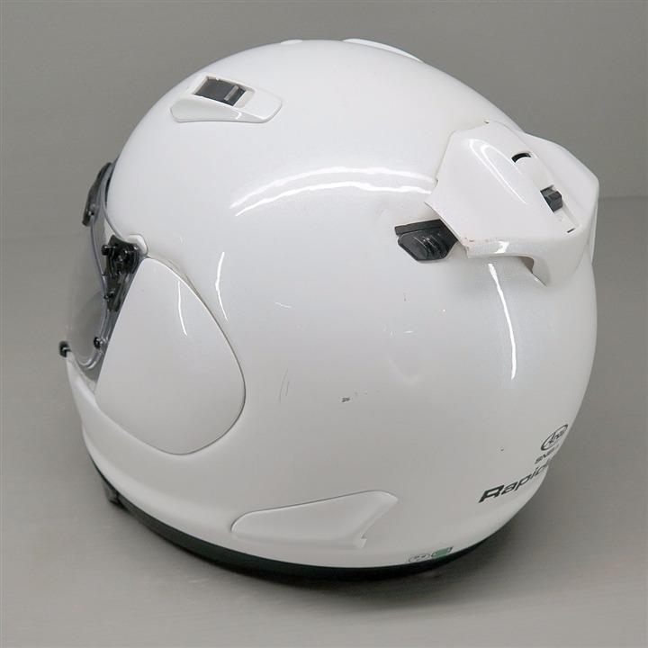Arai RAPIDE-IR フルフェイスヘルメット 55-56cm Sサイズ 白 ディフューザー割れ