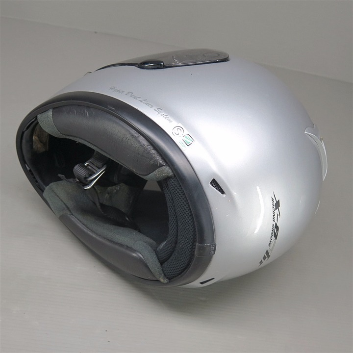 SHOEI X-8R hi フルフェイスヘルメット Lサイズ シルバー 傷あり