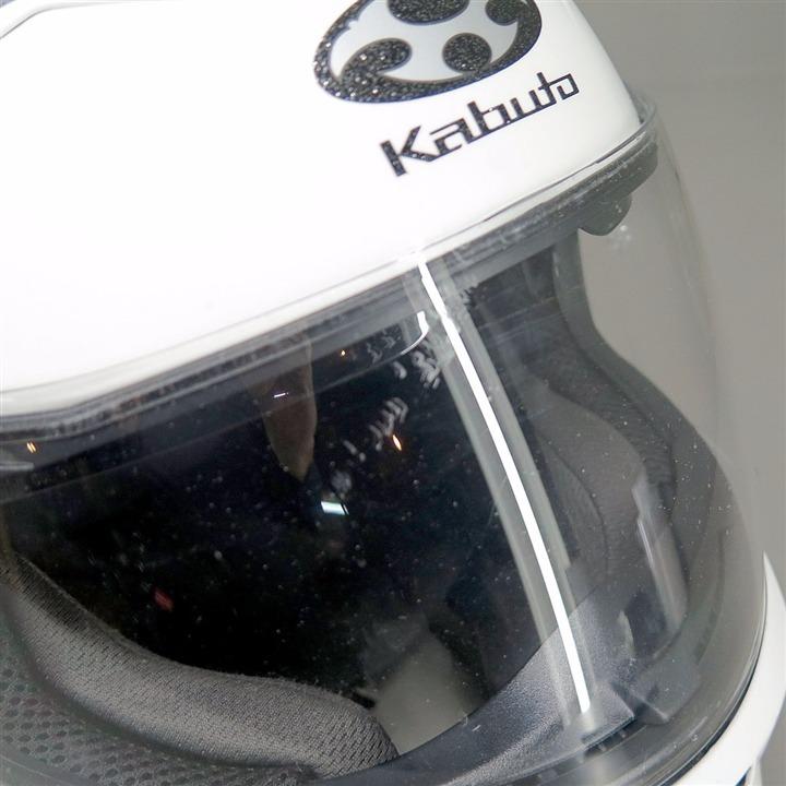 OGK Kabuto KAMUI フルフェイスヘルメット Mサイズ 白 傷あり