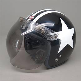 OGK Bob ジェットヘルメット XLサイズ 黒/星