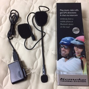 値下げ ヘルメット内蔵型Bluetoothヘッドセット Kemeko ツーリングシステム