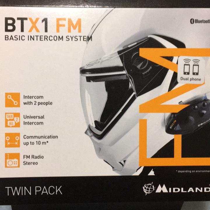 インカムペア BTX1 FM ツインパック