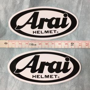 アライヘルメット ステッカー2枚組