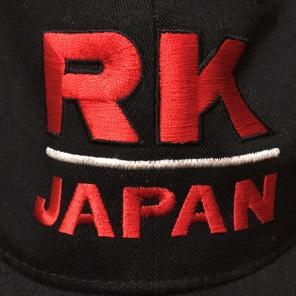 RK JAPAN 刺繍ロゴ入りキャップ