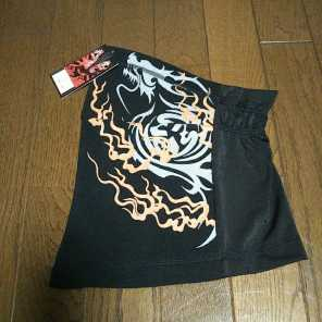 ★新品弐黒堂フェースマスク WBKN-473龍 カラー黒/橙 定価3132円 フリーサイズ