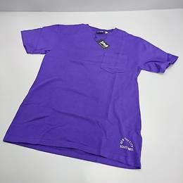 SCHOTT Tシャツ パープル プリント無し Sサイズ
