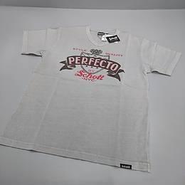 SCHOTT Tシャツ グレー プリント Mサイズ
