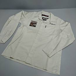 SCHOTT ワークシャツ オフホワイト Sサイズ