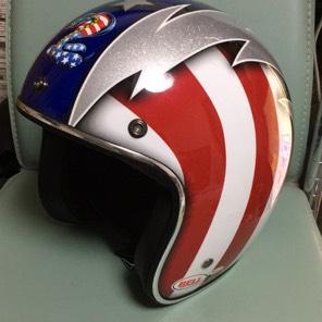 BELL CUSTOM500 星条旗カラー ジェットヘルメット