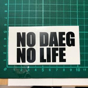 送料無料 NO DAEG NO LIFE カッティングステッカー ヘルメット、ZRX1200ダエグ乗りに是非!
