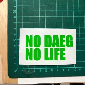送料込 NO DAEG  NO LIFE ステッカー ヘルメット、ZRX1200ダエグ乗りに是非!