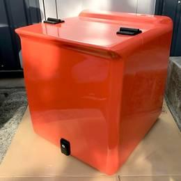 バイク用 リアボックス オレンジ 特注品 ジャイロキャノピー等