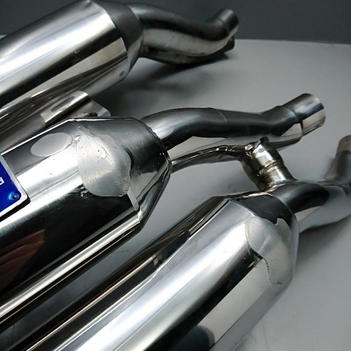 V-MAX1200 OVER製 ステンレスフォッカー マフラー VMAX