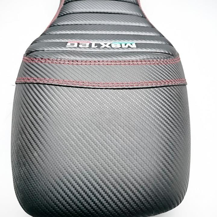 GROM グロム 社外シート カーボン柄 レッドステッチ