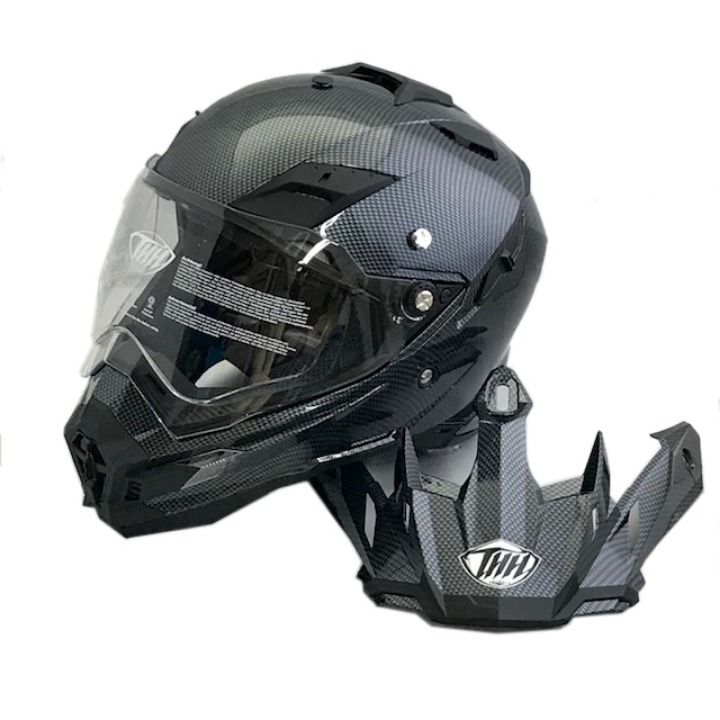 THH TX-27 オフロードヘルメット シルバーカーボン