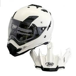THH TX-27 オフロードヘルメット パールホワイト M