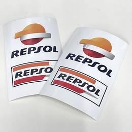 【REPSOL】レプソル バイク用 ステッカーシール デカール 2枚セット