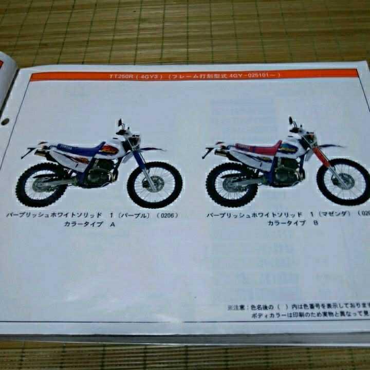 ヤマハTTR250パーツリスト:価格表付き