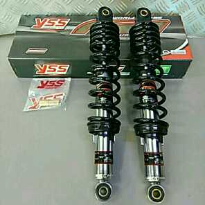 YSS 340mm リアサスペンション 黒スプリング