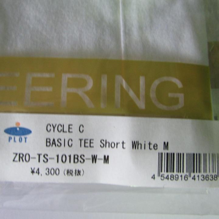 サイクルカルチャー CYCLE C BASIC TEE Short  WHITE  Mサイズ