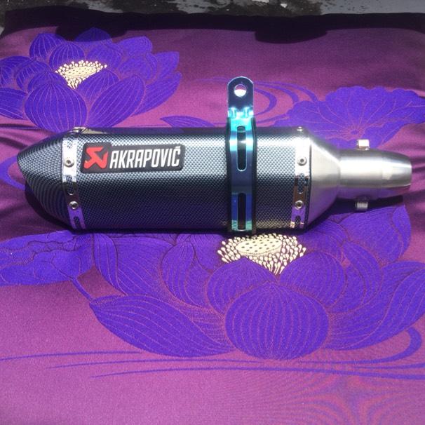 汎用スリップオン カーボンサイレンサー