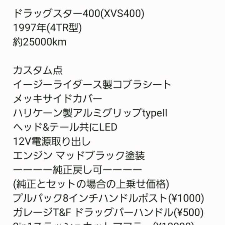 ドラッグスター400 4TR