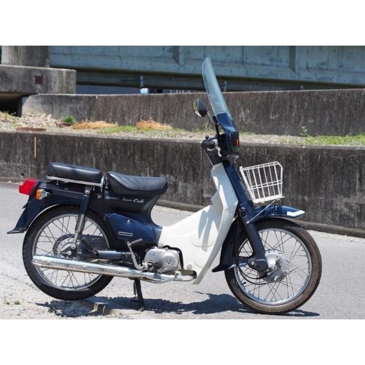 スーパーカブ90カスタム 2005年モデル 専用風防 リアシート付き♪