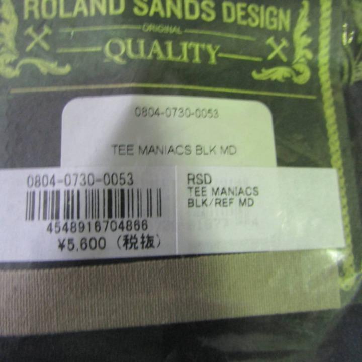 ローランドサンズデザイン RSD マニアックス ティーシャツ ブラック MD