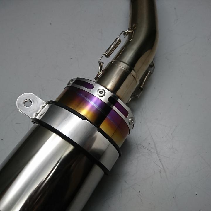 マジェスティ125FI 社外 チタンマフラー フルエキ