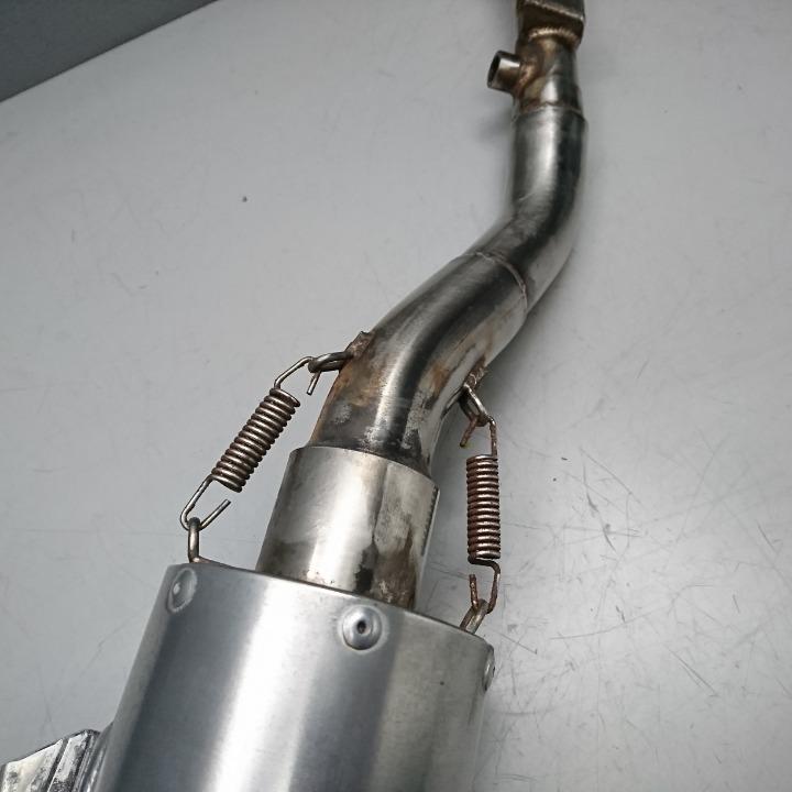 Dトラッカー125、KLX125 デルタ バレル4S スリップオン サイレンサー マフラー LX125D