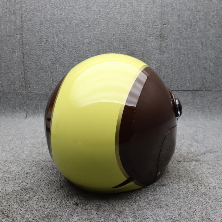 セミジェットヘルメット インナーバイザー付き ブラウン