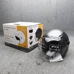 セミジェットヘルメット インナーバイザー付き ブラック
