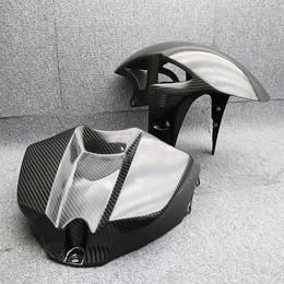 YZF-R1 綾織ドライカーボンセット タンクカバー フロントフェンダー