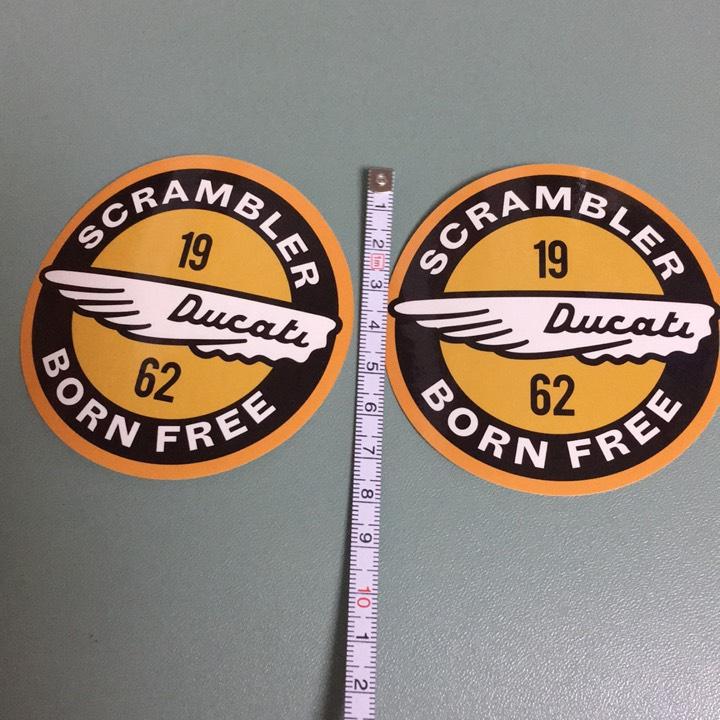 ドゥカティスクランブラー ステッカー2枚組