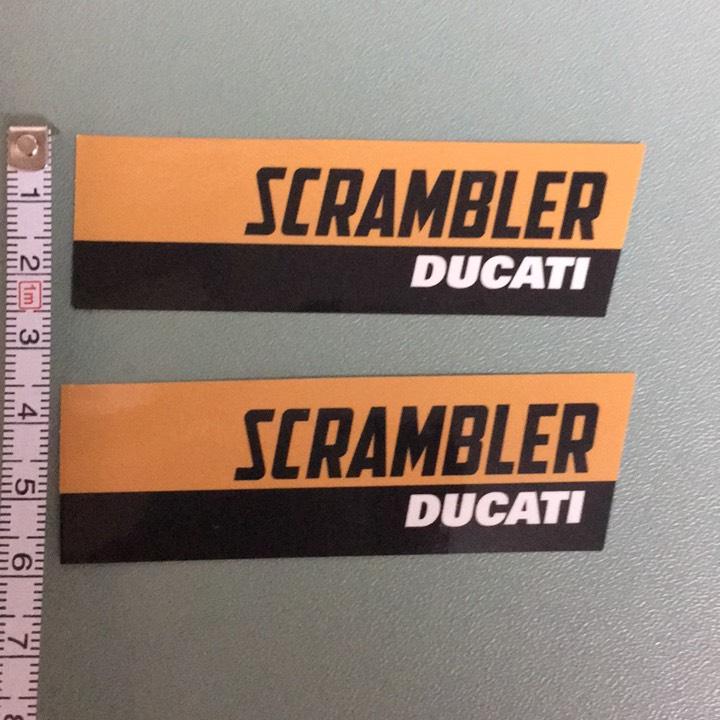 ドゥカティスクランブラー  ロゴステッカー2枚組