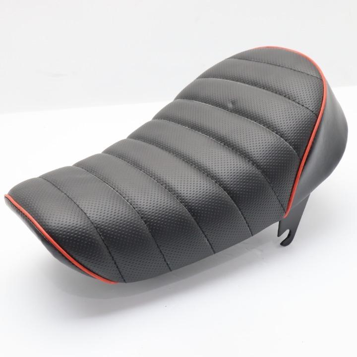 モンキー 新品未使用シート 黒/赤パイピング