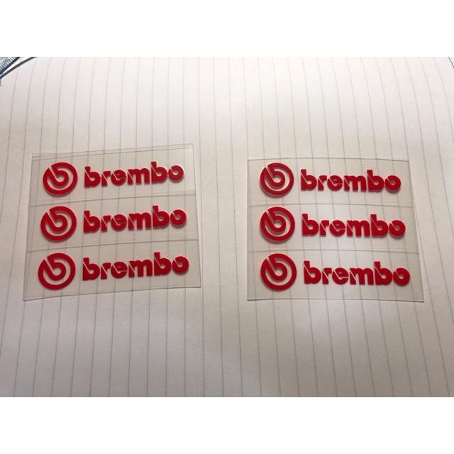 bremboロゴステッカー(3枚)