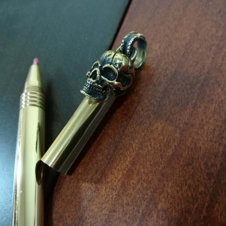 真鍮製 ボールペンTYPE2 スカル ブラス
