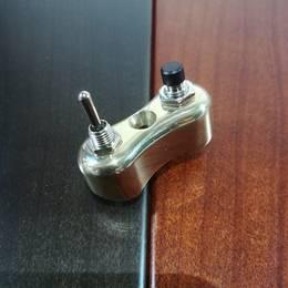 真鍮製 ミニ スイッチ type2 ハーレー スポーツスター ダイナ ブラス