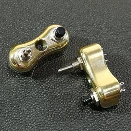 真鍮製 ミニ スイッチ type2 2個セット ハーレー スポーツスター ダイナ ブラス