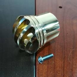 真鍮製 マフラーエンドTYPE1 ブラス ドラッグパイプ スラッシュカット