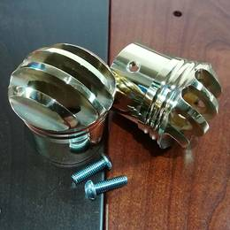 真鍮製 マフラーエンドTYPE1 2個セット ブラス ドラッグパイプ スラッシュカット