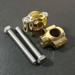 真鍮製 ハンドルライザー type1 ブラス 1インチハンドル用 ハーレー スポーツスター ダイナ