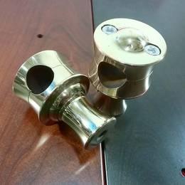 真鍮製 ハンドルライザー ポスト type2 1インチハンドル用 ハーレー スポーツスター ダイナ